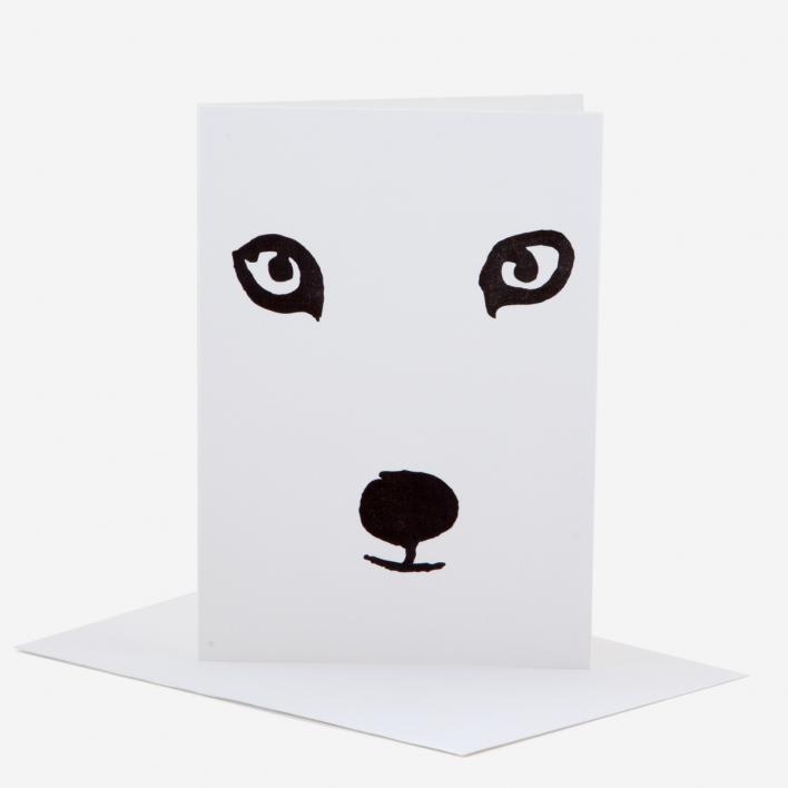 Kikisoso Polar Fox Greeting Card