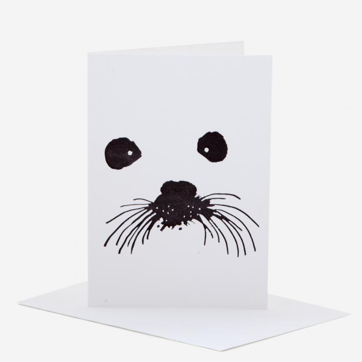 Kikisoso Snow Seal Greeting Card