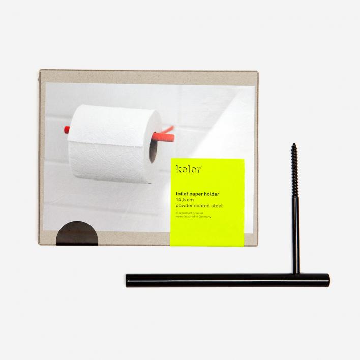 kolor Toilettenpapierhalter - Black