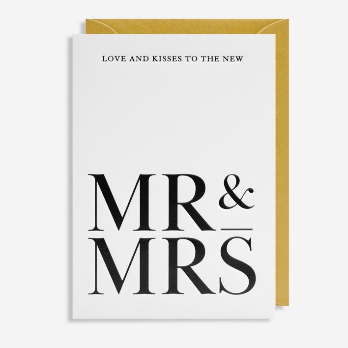 Lagom Design Mr & Mrs Love and Kisses Grußkarte