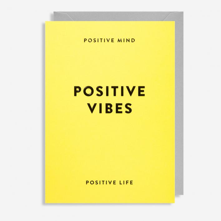 Lagom Design Positive Vibes Greeting Card