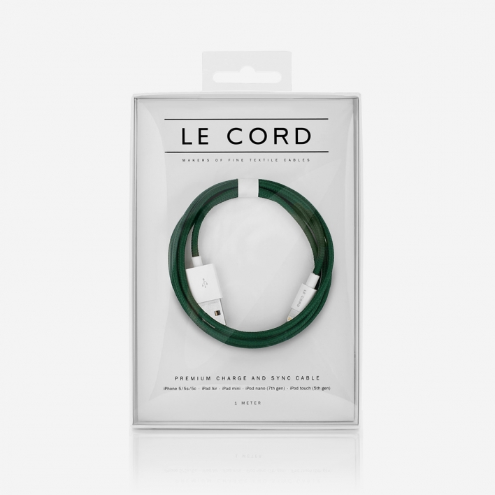 Le Cord Solid Spruce Ladekabel