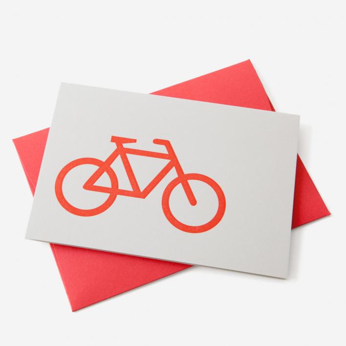 Le Typographe Grußkarte Bike