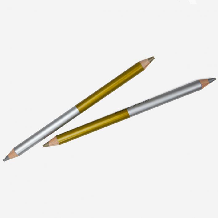 Letterbox Zweifarbiger Buntstift Silber / Gold