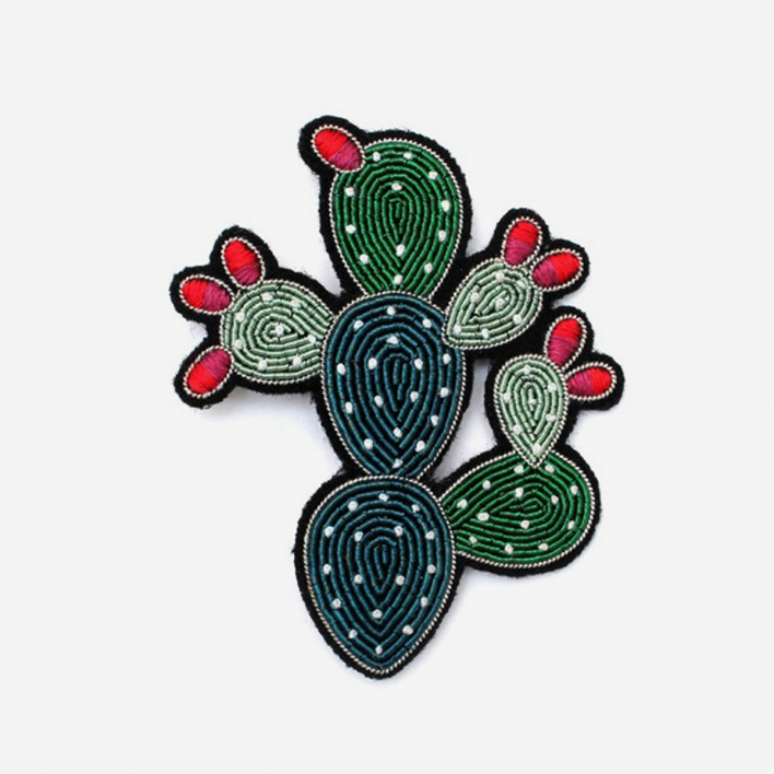 Macon & Lesquoy Brooch Large Cactus