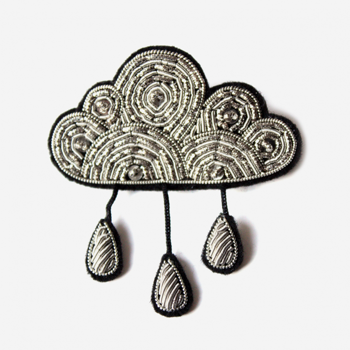 Macon & Lesquoy Brooch Large Cloud with rain