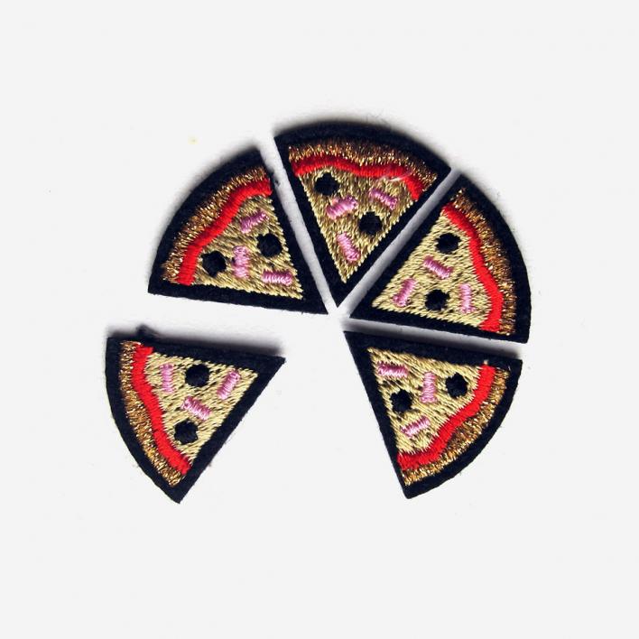 Macon & Lesquoy Bügel-Aufnäher Set Pizza
