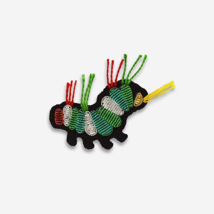 Macon & Lesquoy Brooch Caterpillar