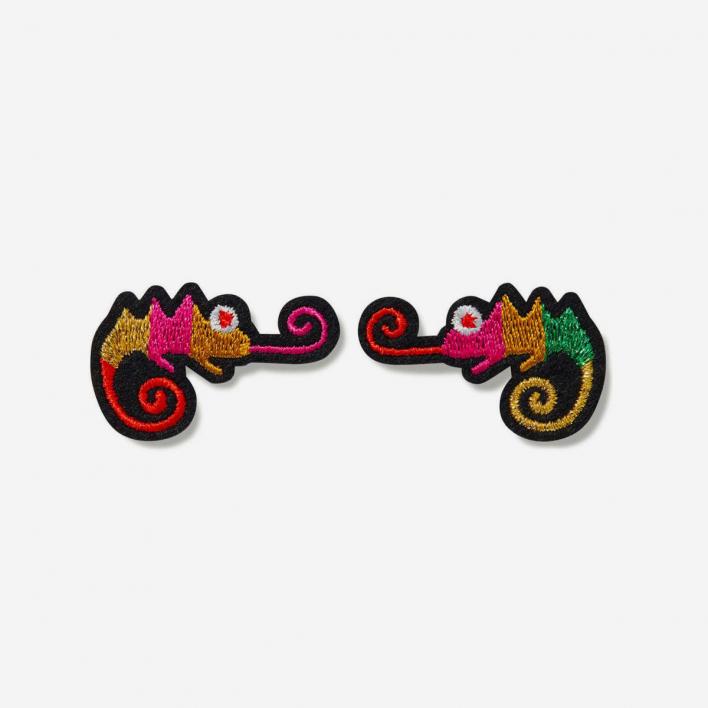 Macon & Lesquoy Patches Chameleon - Bügel-Aufnäher