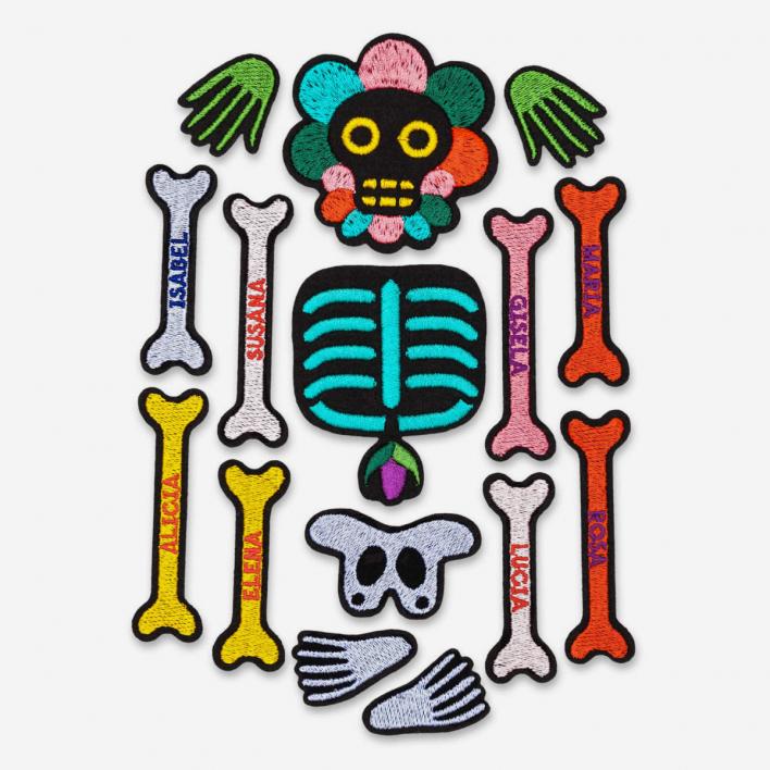 Macon & Lesquoy Bügel-Aufnäher Lucha Skeleton