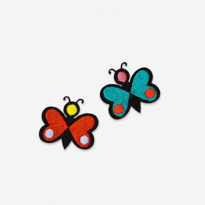 Macon & Lesquoy Patches Mini Monarch Butterfly - Bügel-Aufnäher