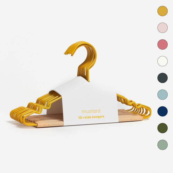 mustard Kids Top Hangers – Set of 5