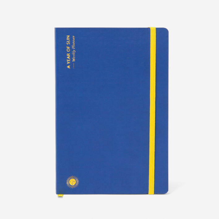 Octaevo A Year of Sun - Weekly Planner Blue