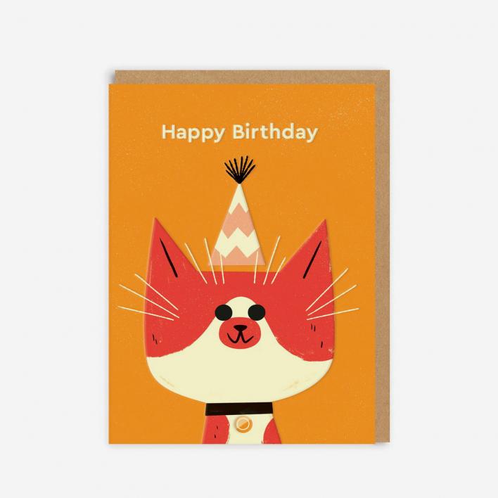 Ohh Deer Birthday Cat Grußkarte