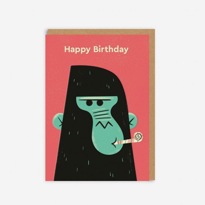 Ohh Deer Birthday Gorilla Grußkarte