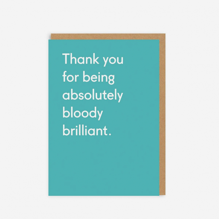 Ohh Deer Thank You For Being Bloody Brilliant Grußkarte