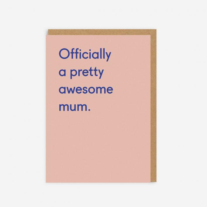 Ohh Deer Awesome Mum Grußkarte