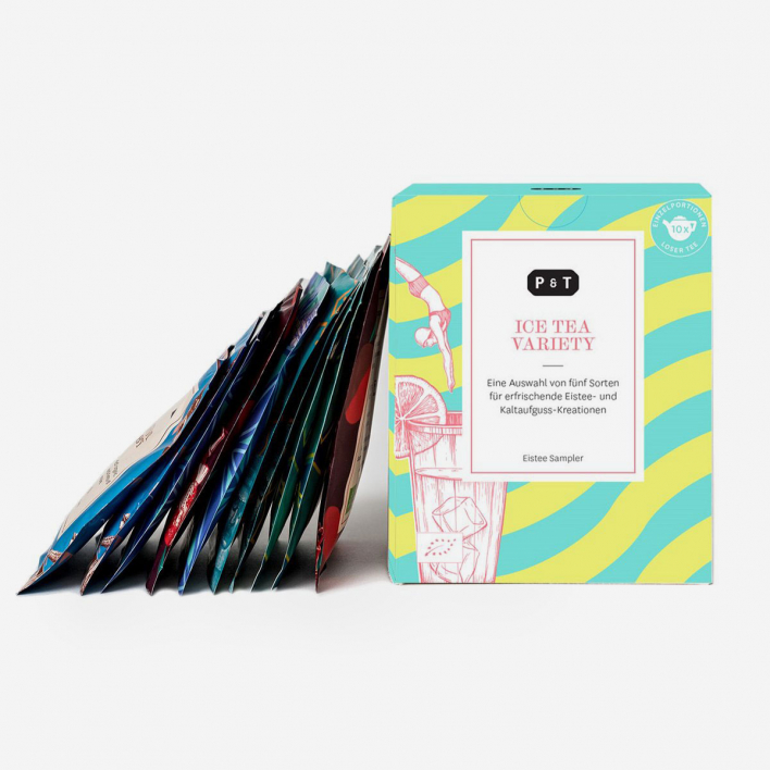 P & T - Paper & Tea Ice Tea Variety Box – Box mit 5 Teesorten