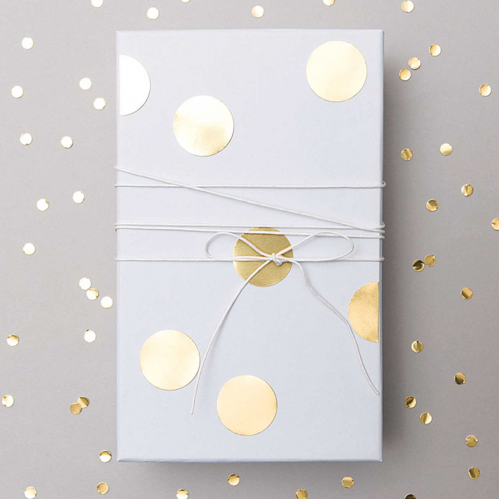 Paper Poetry Sticker Dots Gold – various sizes