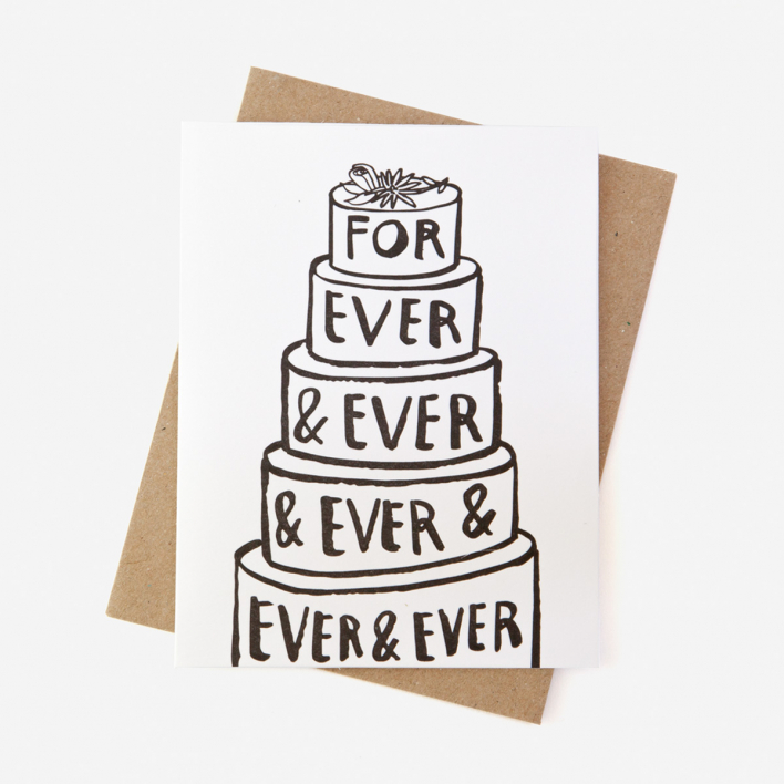 People I've Loved Forever & Ever Letterpress Greeting Card