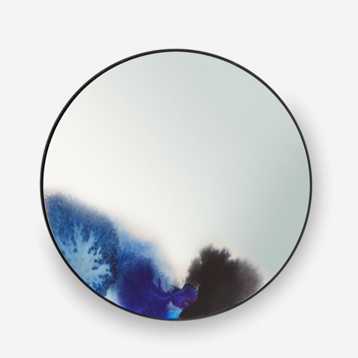 Petite Friture Wandspiegel Francis Blue Small