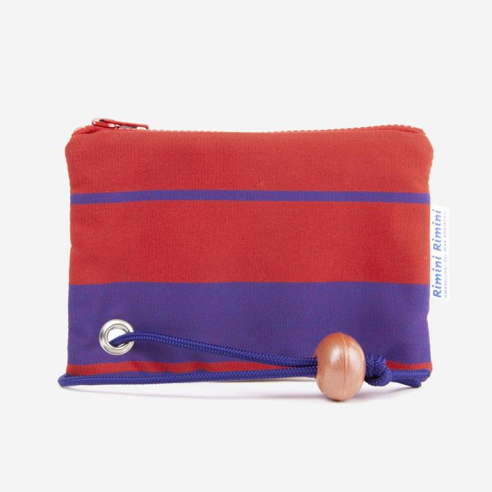 Rimini Rimini Bags Small Pouch Lido Adriano Red Blue Lines