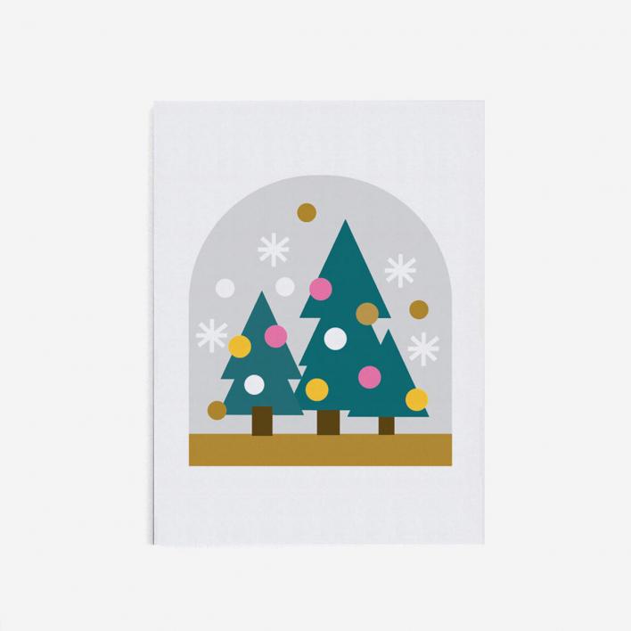 Scout Editions Snow Globe Mini Weihnachtkarte