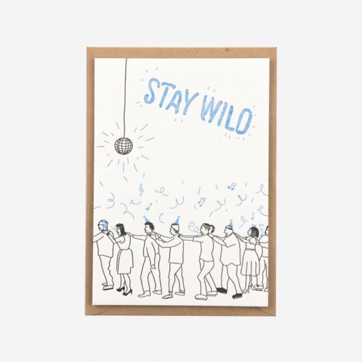 Stay Wild Letterpress Postcard                          </a>                    </div>                    <div class=