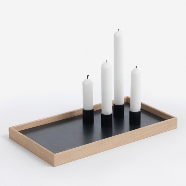 The Oak Men Magnetic Candle Tray