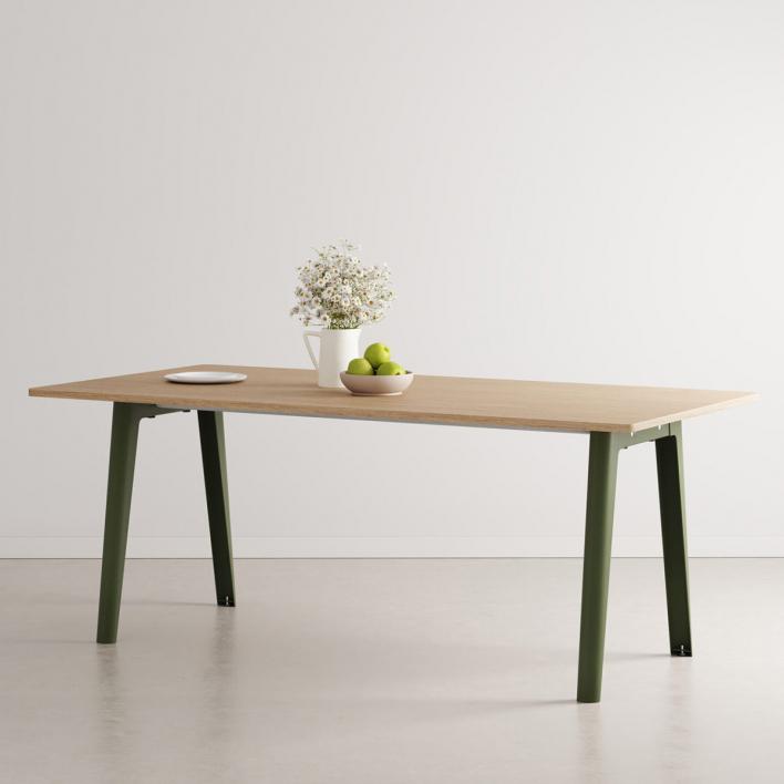Tiptoe NEW MODERN Dining Table – eco-certified wood 220 × 95 cm Rosemary Green 220 × 95 cm | Rosemary Green