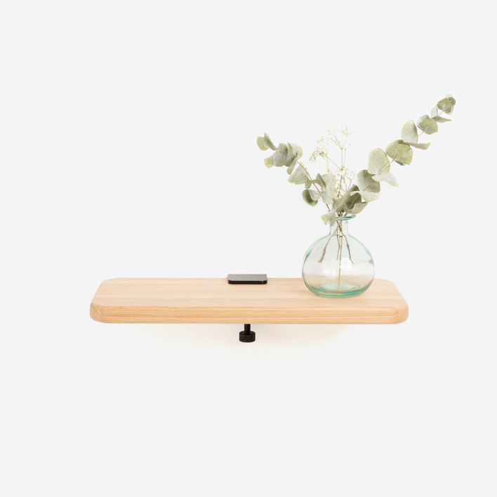 Tiptoe Solid Oak Shelf 45 × 20 cm Olive Green 45 × 20 cm   Olive Green