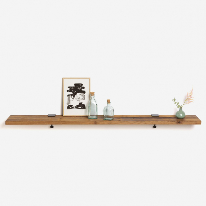 Tiptoe Reclaimed Wood Shelf 150 × 20 cm Mineral Blue 150 × 20 cm | Mineral Blue