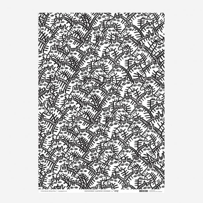 Wrap Magazine Zebras Wrapping Paper