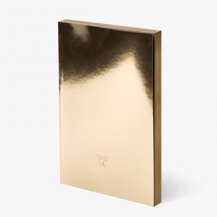 rikiki grafik produkt super gold lingotto notizheft. Black Bedroom Furniture Sets. Home Design Ideas