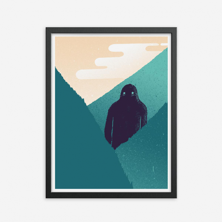 Zum Heimathafen Mighty Kong – Screenprint Anthracite Frame Anthracite Frame