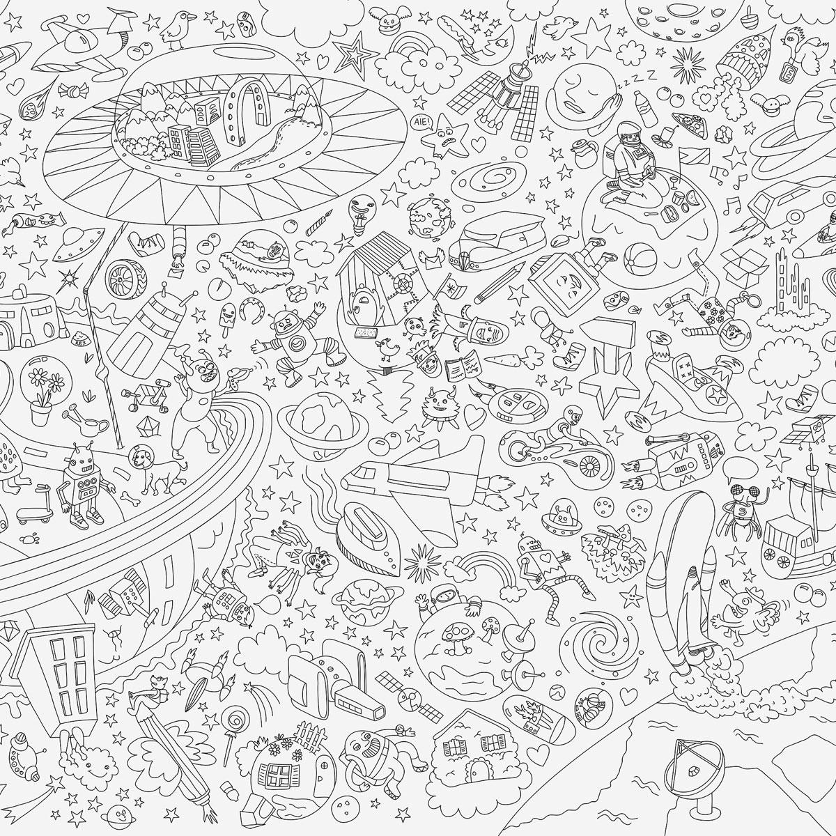 · rikiki. grafik & produkt · | Giant Coloring Poster Cosmos
