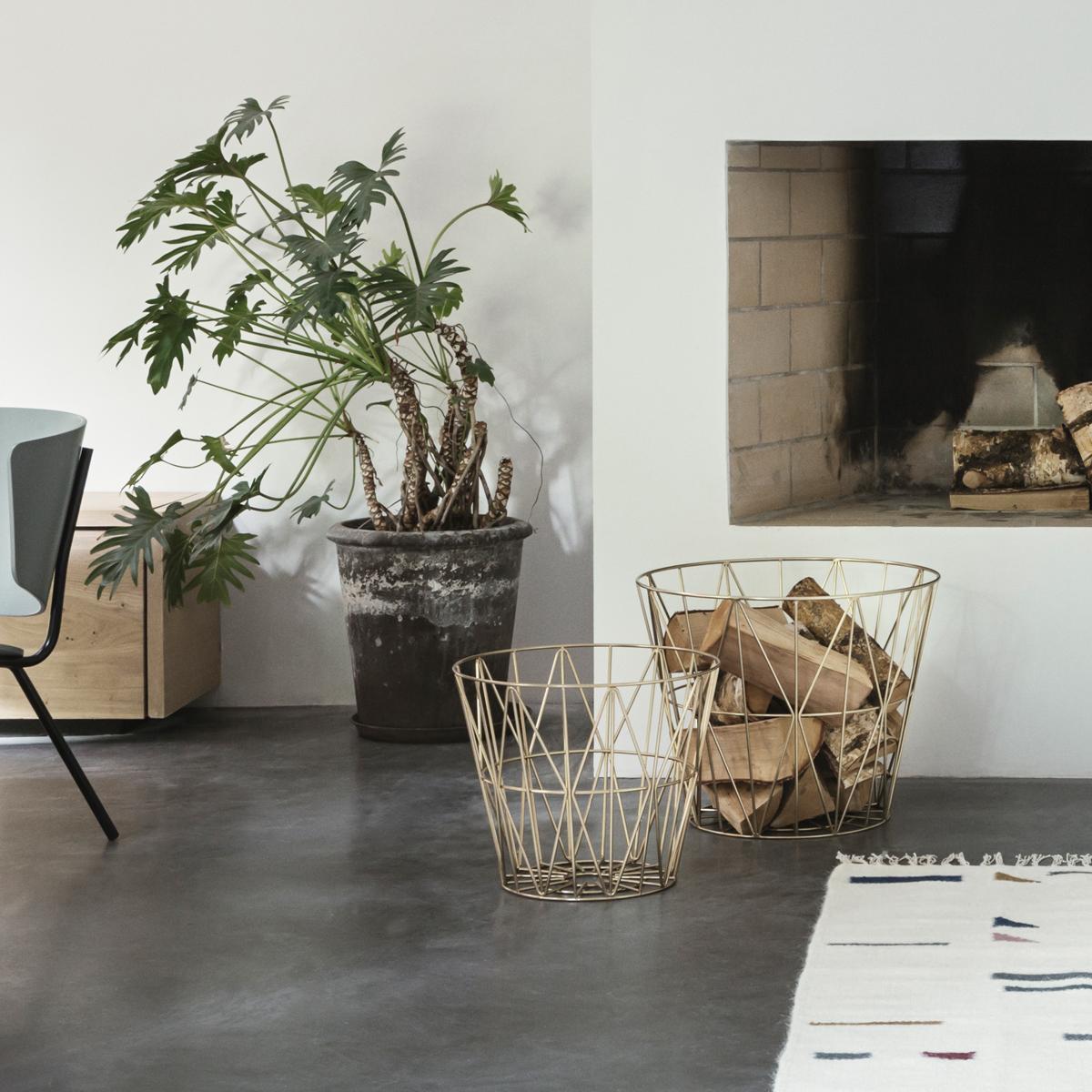 rikiki grafik produkt wire basket large brass. Black Bedroom Furniture Sets. Home Design Ideas