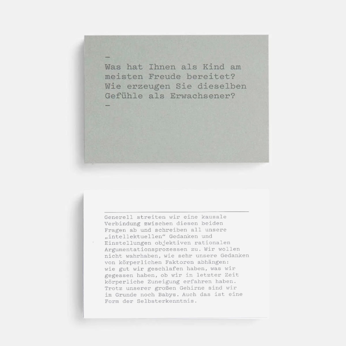 Rikiki Grafik Produkt Erkenne Dich Selbst Know Yourself Prompt Card Set