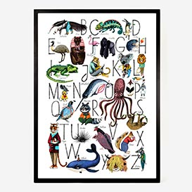 Animal Alphabet ABC Artprint Poster>     </noscript> </div>          <div class=