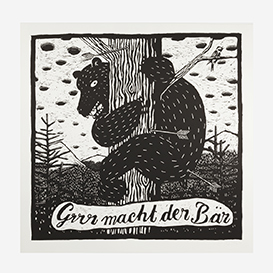 Bear Screenprint - Large>     </noscript> </div>          <div class=