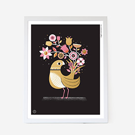 Black Bouquet Bird Screenprint>     </noscript> </div>          <div class=