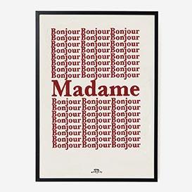Bonjour Madame Art Print - A1>     </noscript> </div>          <div class=