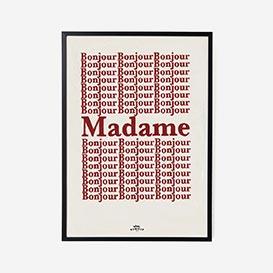 Bonjour Madame Art Print - A3>     </noscript> </div>          <div class=