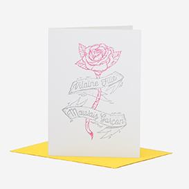 Vilaine Fille Mauvais Garçon Lettrepress Greeting Card>     </noscript> </div>          <div class=