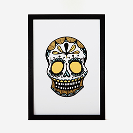 Calavera Gold Green Rust #1 Screenprint>     </noscript> </div>          <div class=