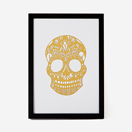 Calavera Gold Green Rust #2 Screenprint>     </noscript> </div>          <div class=