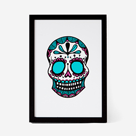 Calavera Pink Mint #1 Screenprint>     </noscript> </div>          <div class=