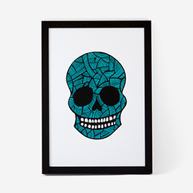 Calavera Pink Mint #3 Screenprint>     </noscript> </div>          <div class=