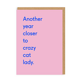 Crazy Cat Lady Greeting Card>     </noscript> </div>          <div class=