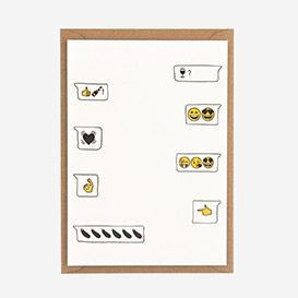 Emoji Love Letterpress Postcard>     </noscript> </div>          <div class=